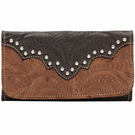 Annie's Secret Ladies Tri-Fold Wallet - Antique Brown