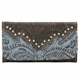 Annie's Secret Ladies Tri-Fold Wallet - Denim Blue