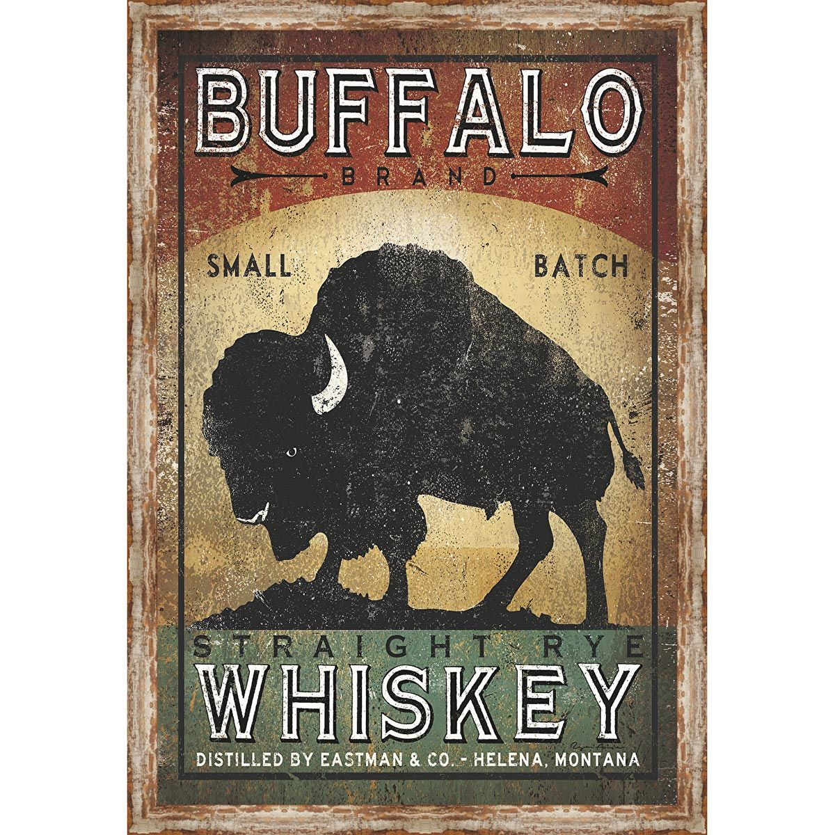 Antique Buffalo Framed Print