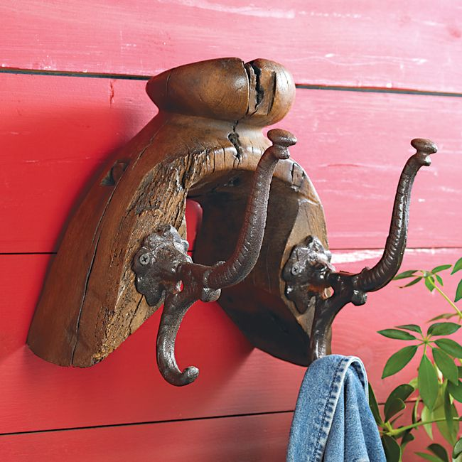 Antique Saddle Tree Coat Rack