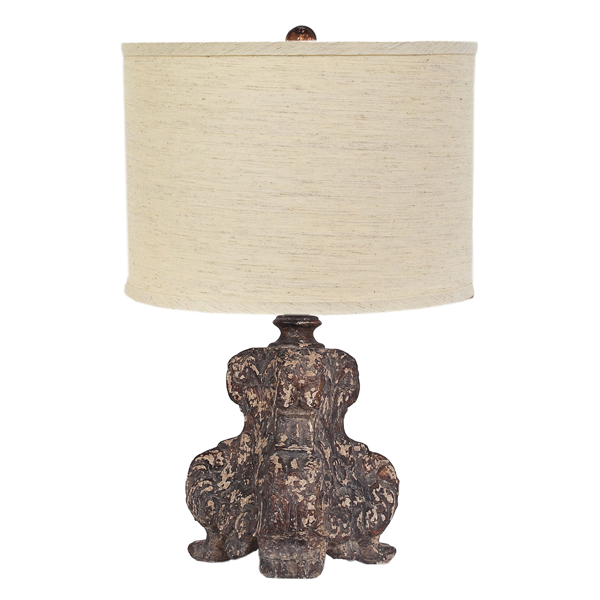 Antiqued Brown Table Lamp