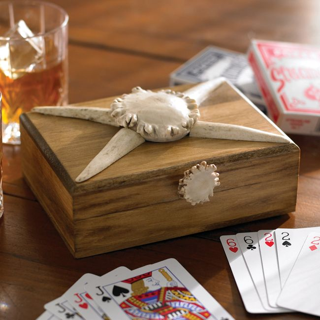 Antler Playing Card Box