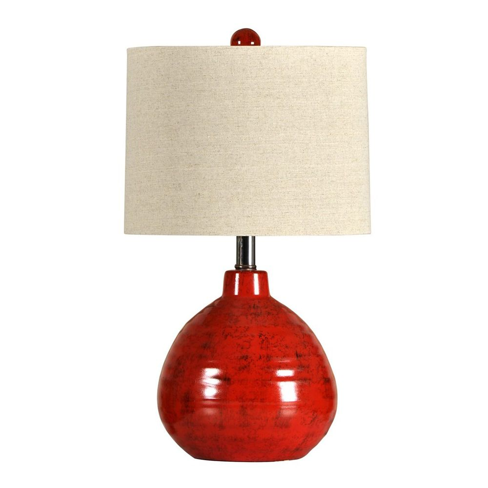 Rustic Lamps Apple Red Ceramic Accent Lamp