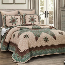 Aqua Star Quilt Bedding Collection
