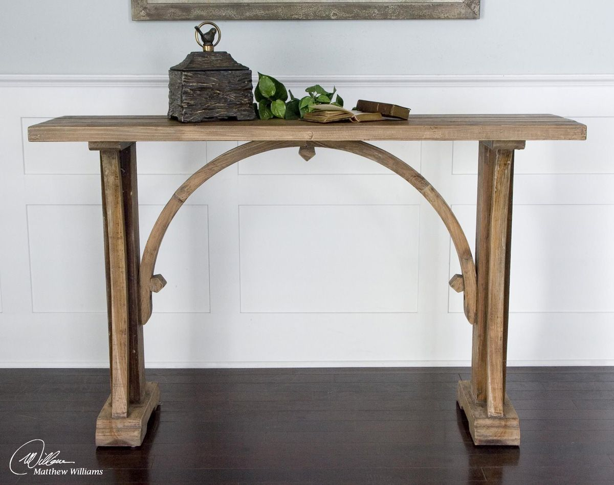 Arched Reclaimed Fir Console Table