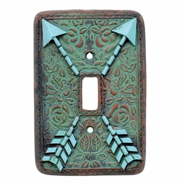 Arrow Turquoise Flower Switch Plate Covers