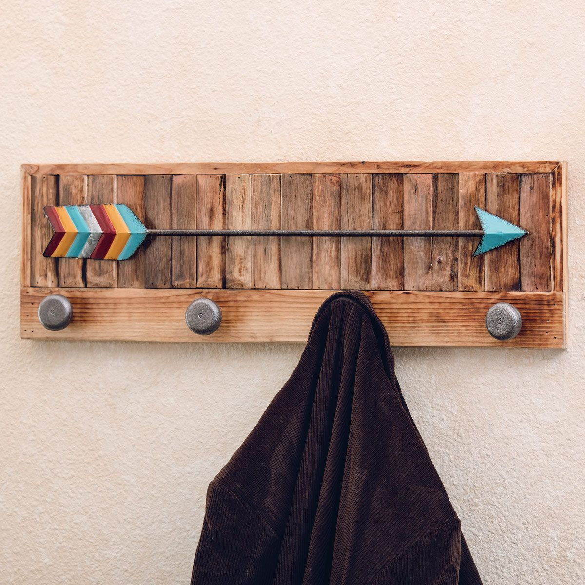 Arrow Wall Hanging Coat Rack