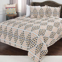 Arrowhead Point Quilt Bed Set - Queen