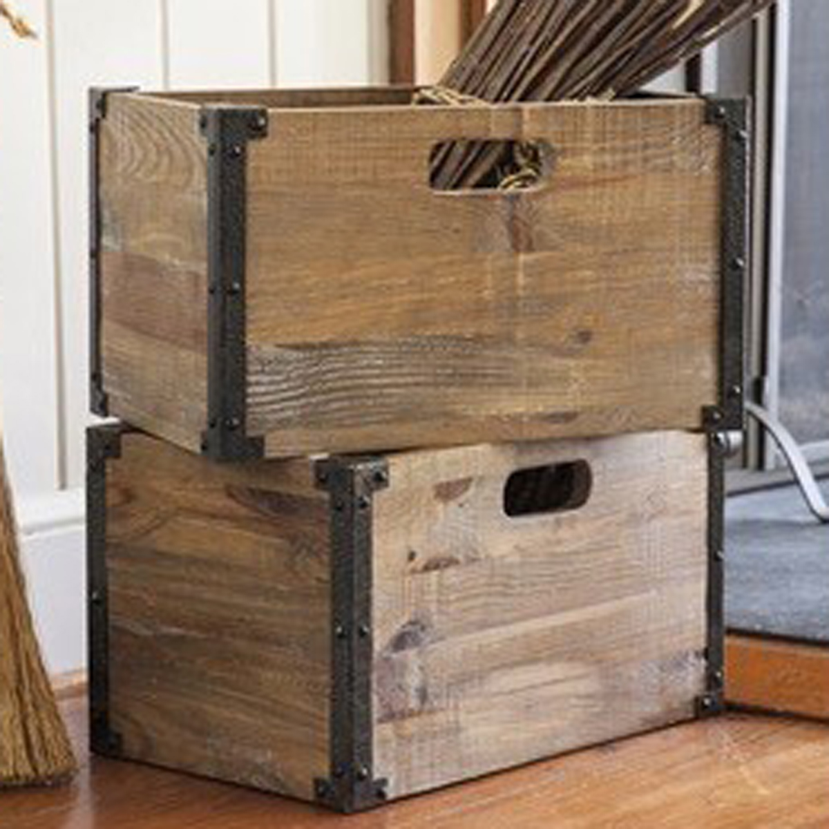 Aspen Creek Storage Crates - Set of 2