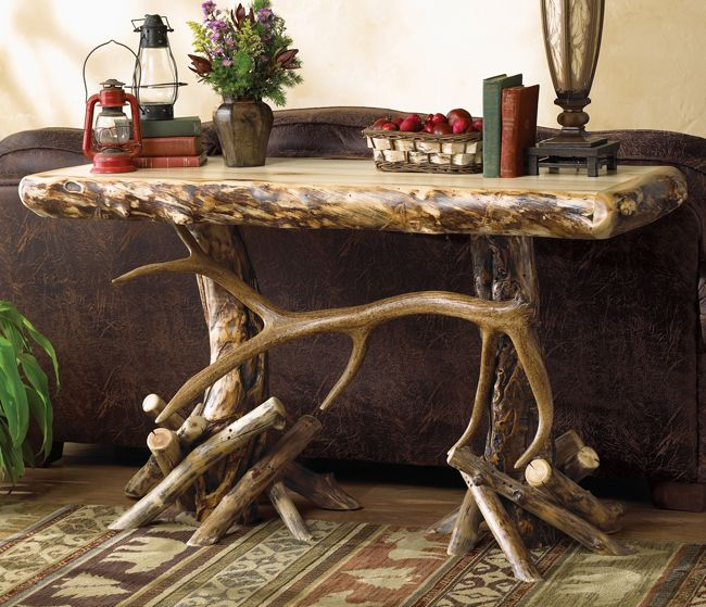 Aspen Elk Antler Console/Sofa Table
