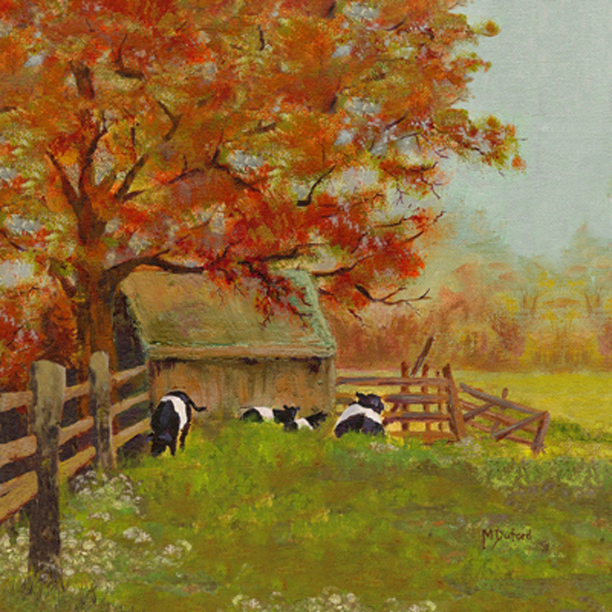 Autumn at the Farm Canvas Art