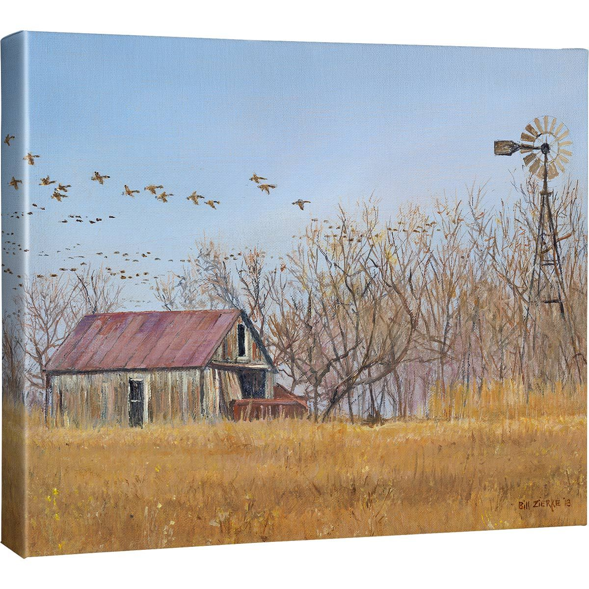 Autumn Barn Canvas Art