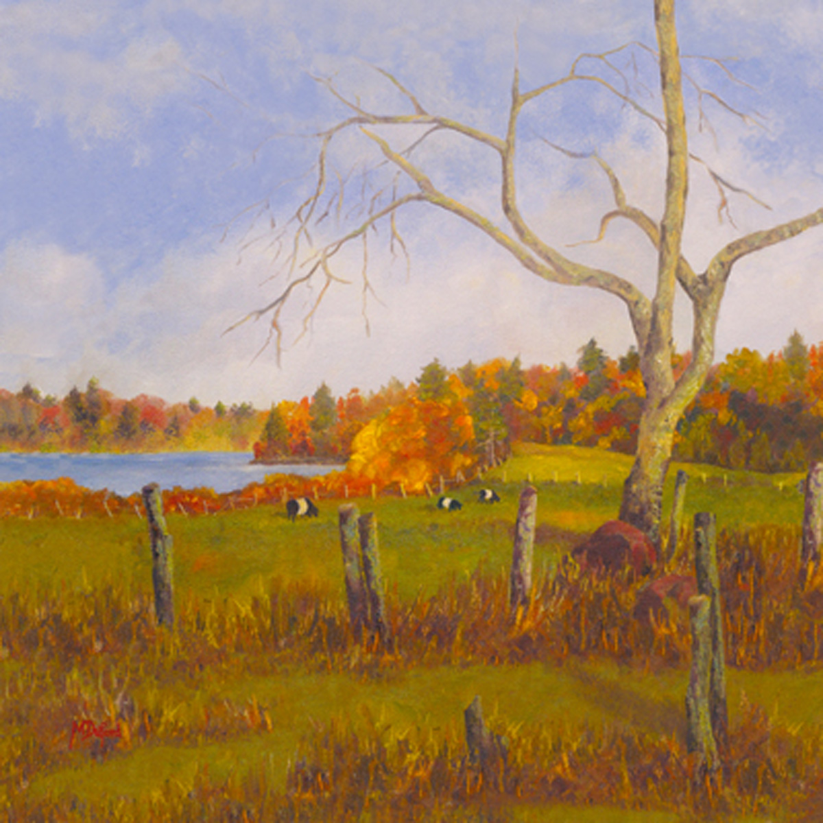 Autumn by the Lake Canvas Art