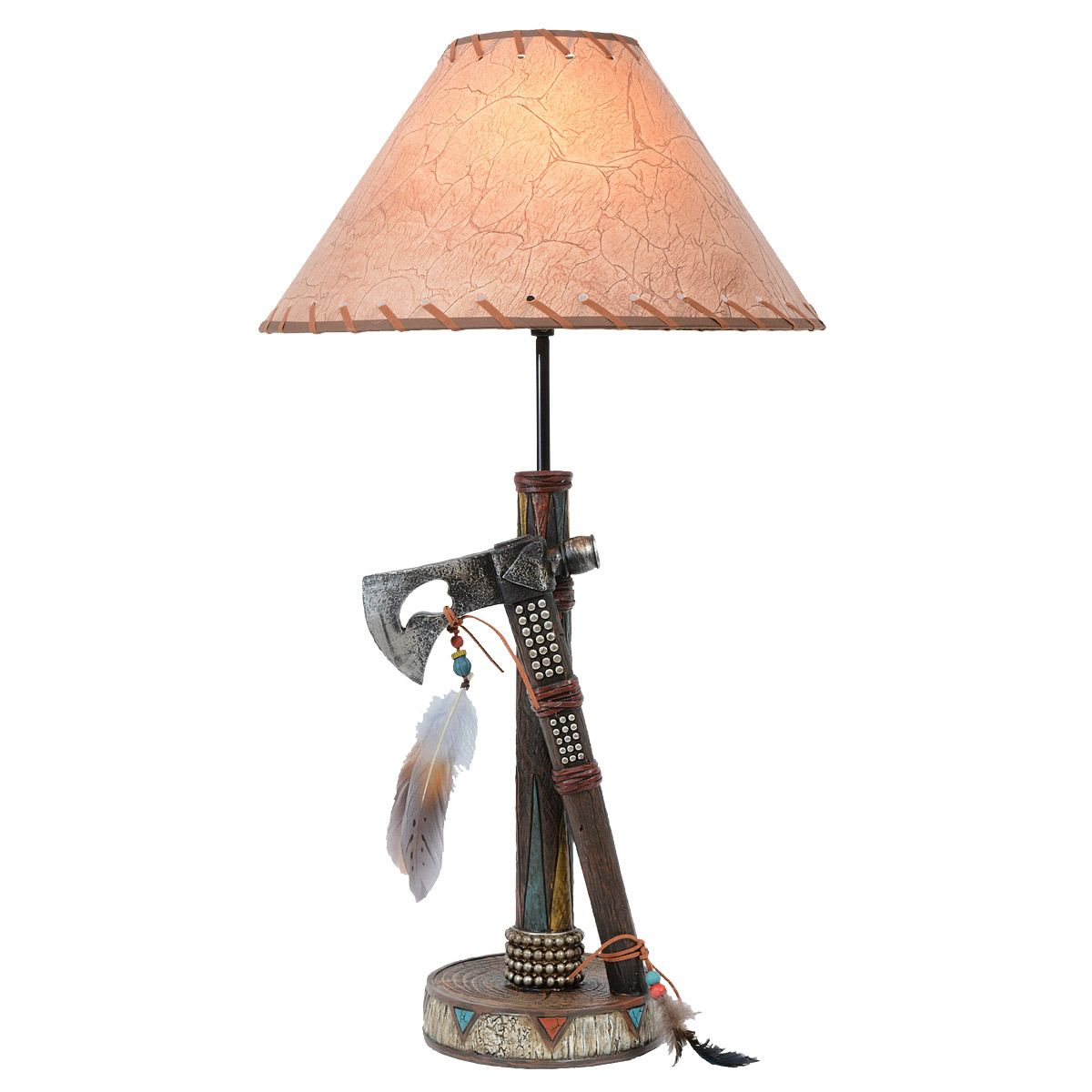 Axe & Feathers Table Lamp