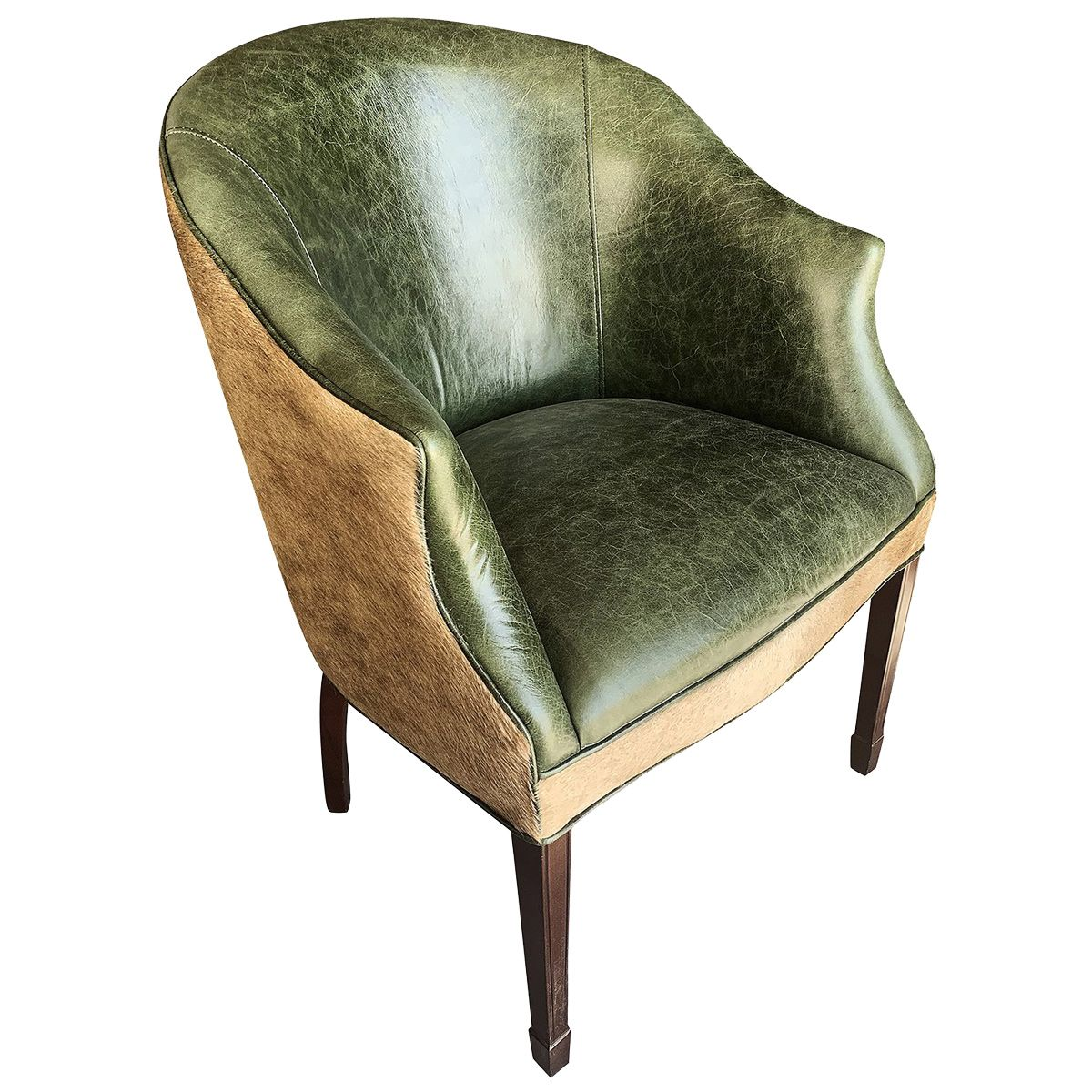 Aztec Jade Contemporary Cowhide Lounge Chair