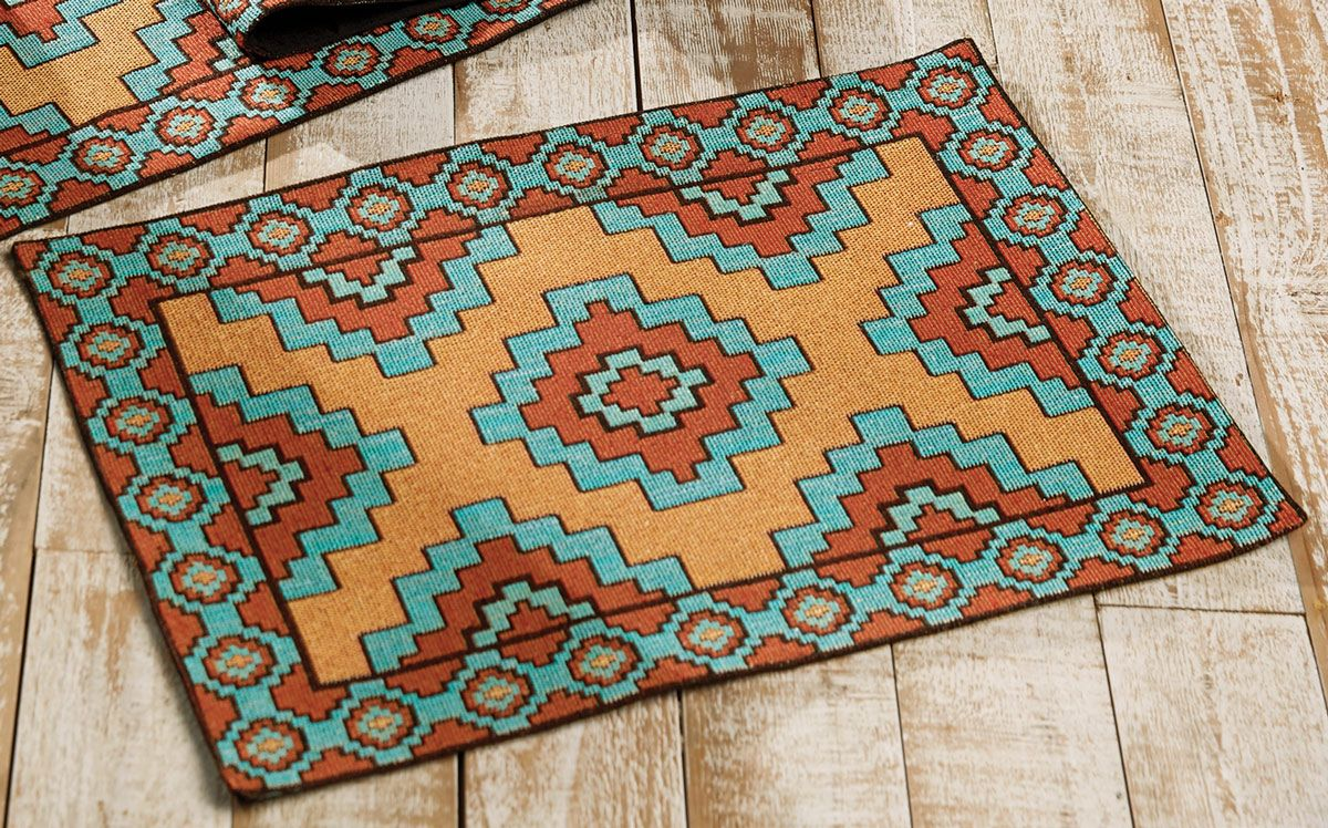 Aztec Turquoise Placemat - CLEARANCE