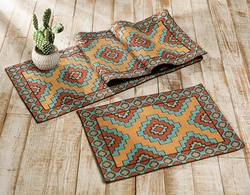 Aztec Turquoise Table Linens