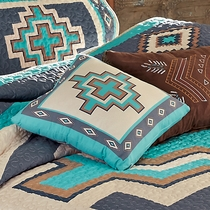 Azul Crosses Accent Pillow