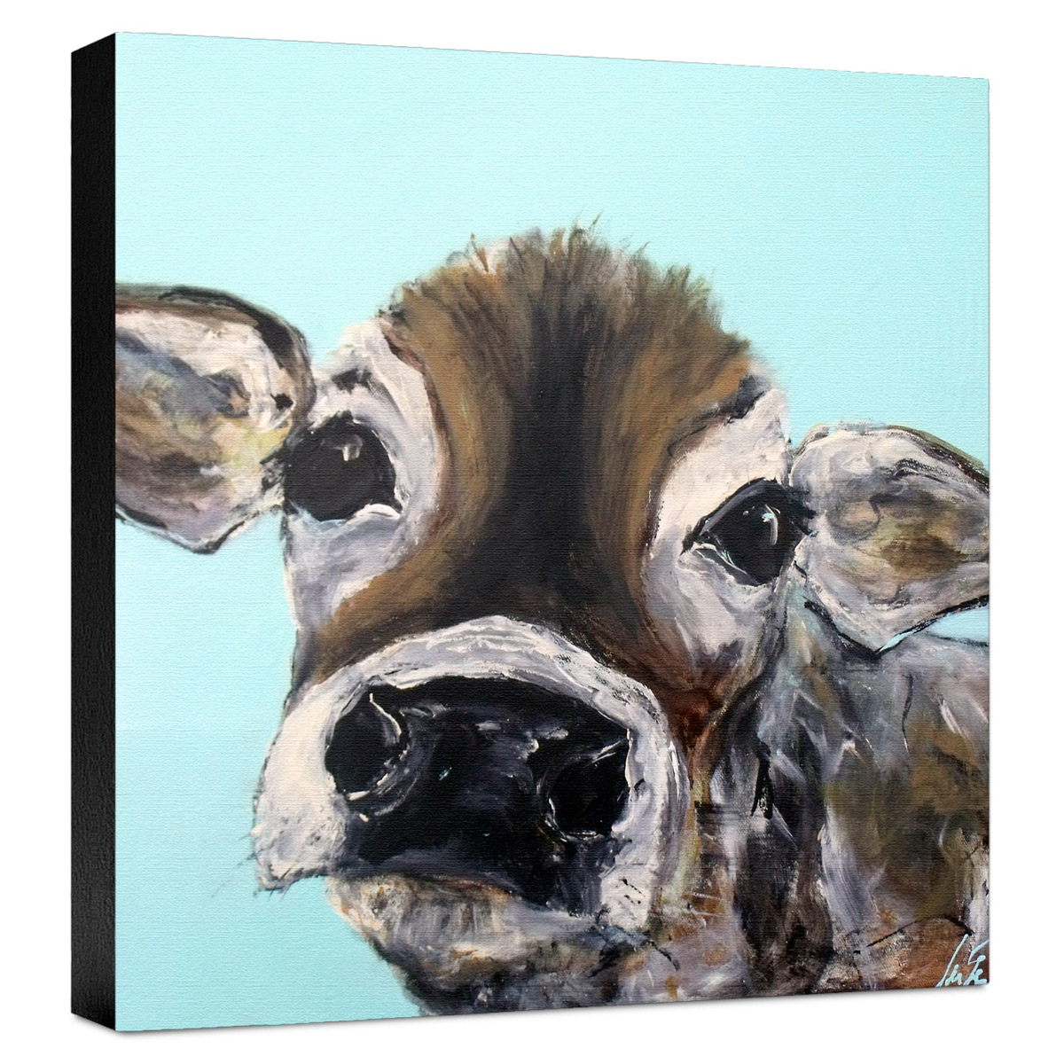 Baby Cow Gallery Wrapped Canvas