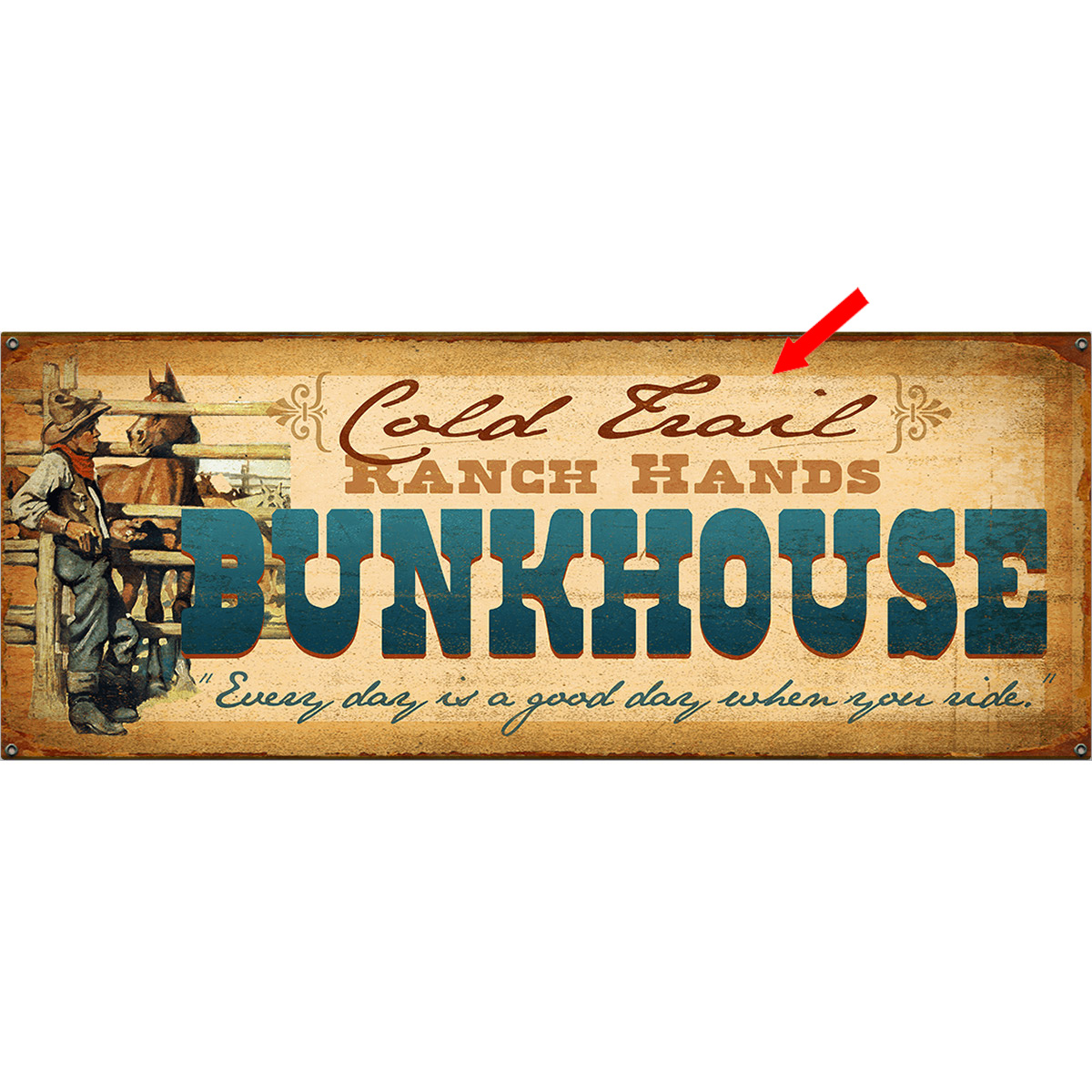 Back at the Bunkhouse Personalized Sign