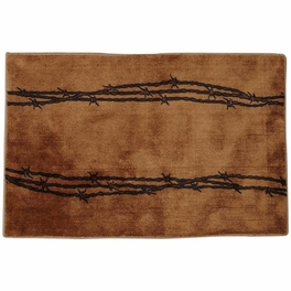 Barbed Wire Tan Bath Rug