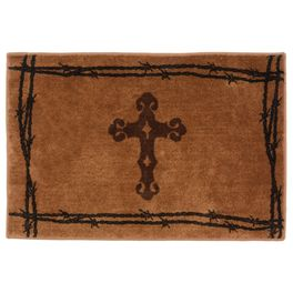 Barbwire Cross Chocolate Rug