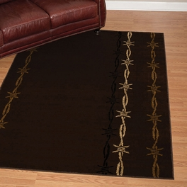 Barbwire on Black Rug Collection