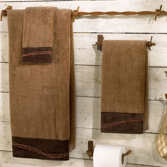 Barbwire Mocha Towel Set (3 pcs)