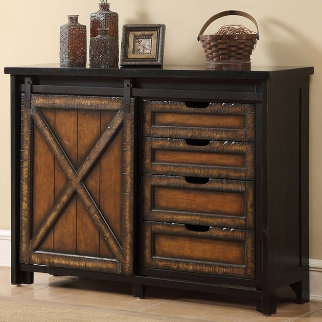 Rustic Tv Stands Barn Wood Sliding Door Media Cabinet