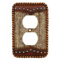 Barnwood & Leather Outlet Cover
