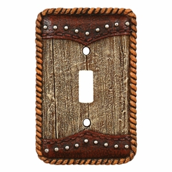 Barnwood & Leather Switch Covers