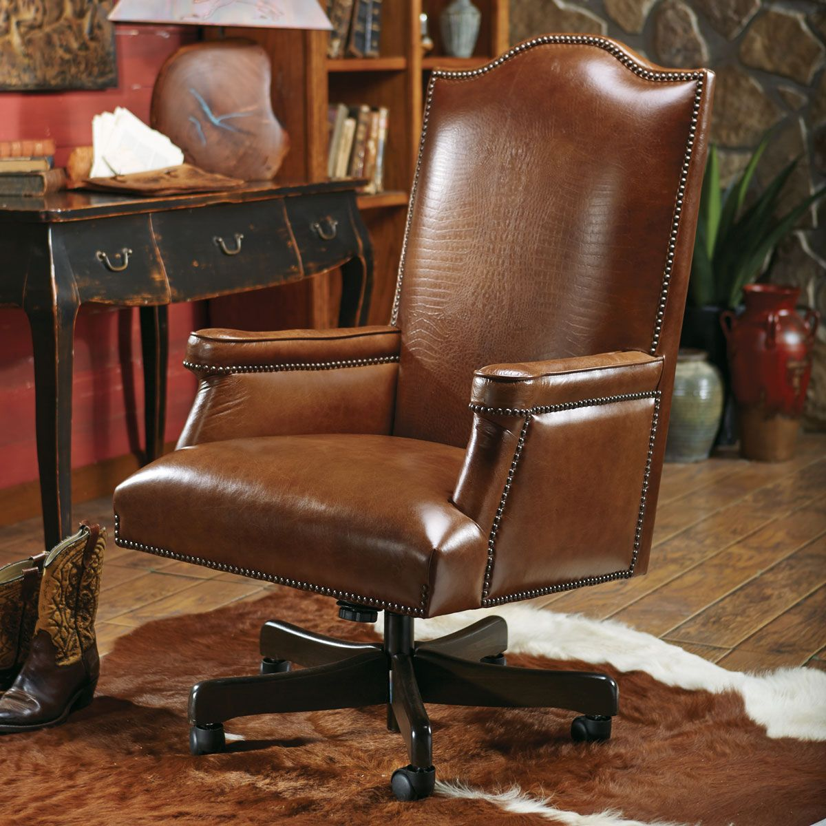 Baron Executive Chair with Croc Leather