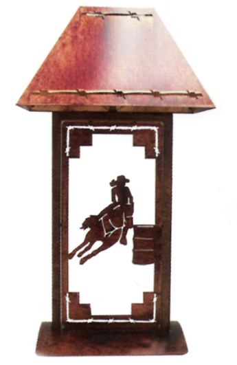 Barrel Racing Table Lamp