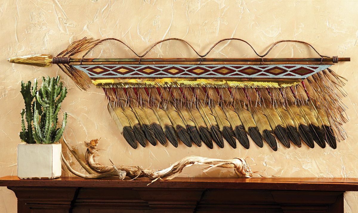 Beaded Spear Wall Art