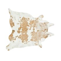 Beige and White Special Cowhide Rug - Extra Large