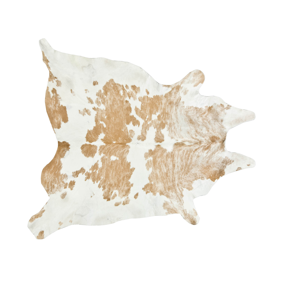 Beige and White Special Cowhide Rug - Large