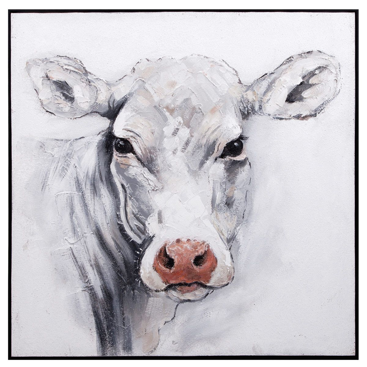 Bertie the Cow Oil Painting