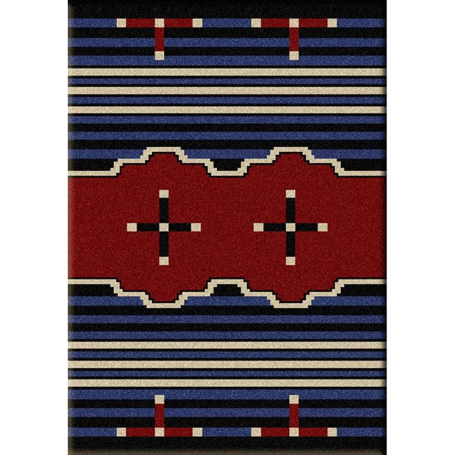 Big Chief Blue Rug - 3 x 4