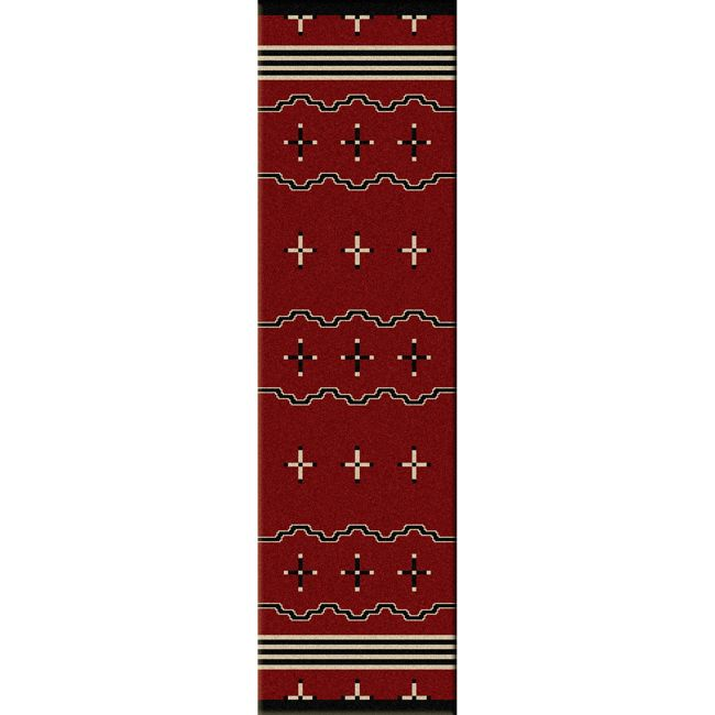 Big Chief Red Rug - 2 x 8