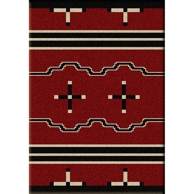 Big Chief Red Rug - 3 x 4