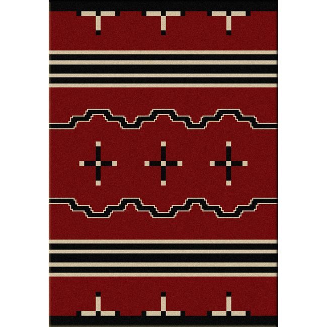 Big Chief Red Rug - 4 x 6