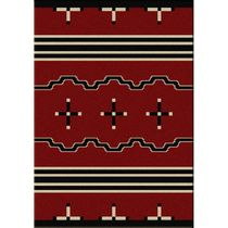 Big Chief Red Rug - 5 x 8