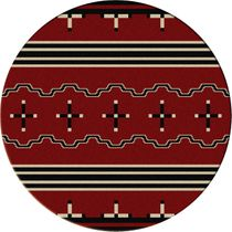 Big Chief Red Rug - 8 Foot Round