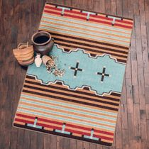 Big Chief Turquoise Rug - 5 x 8