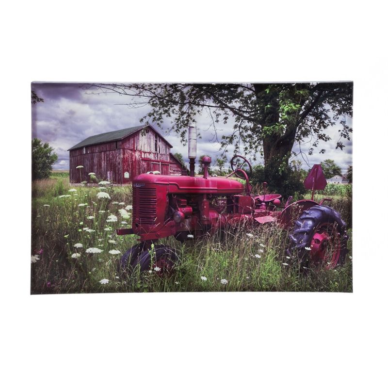 Big Red Barn Outdoor Wall Canvas