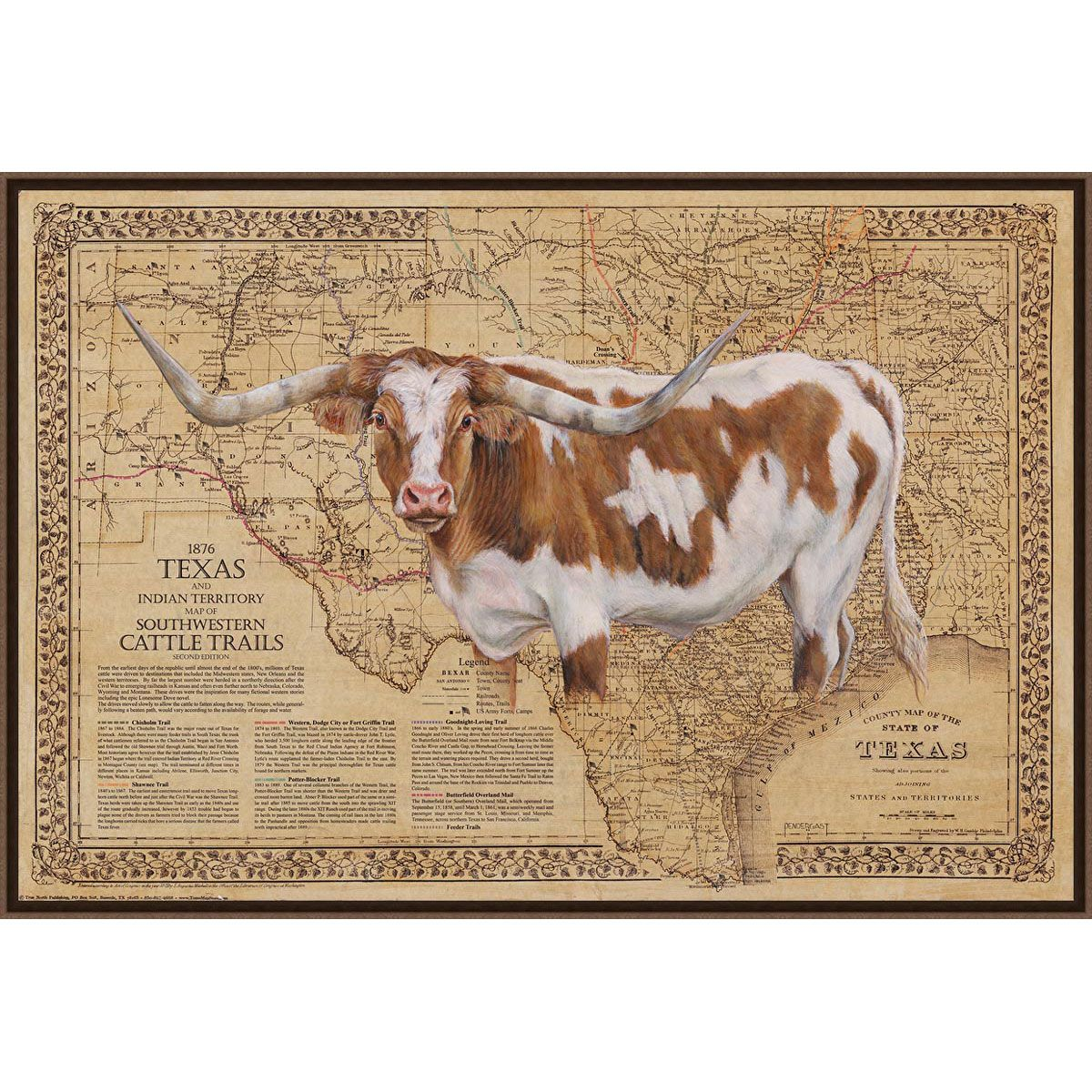 Bigger in Texas Framed Canvas