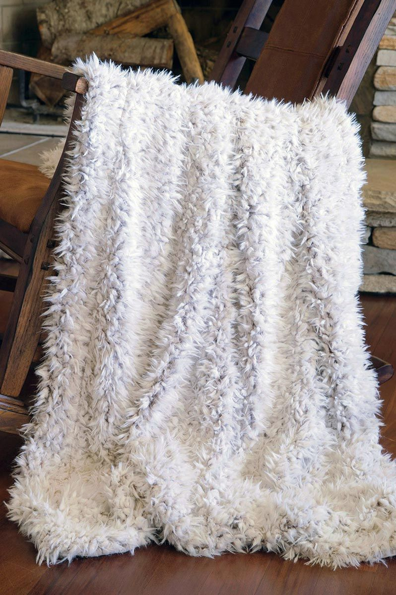 Bison Pass Shaggy Fur Throw
