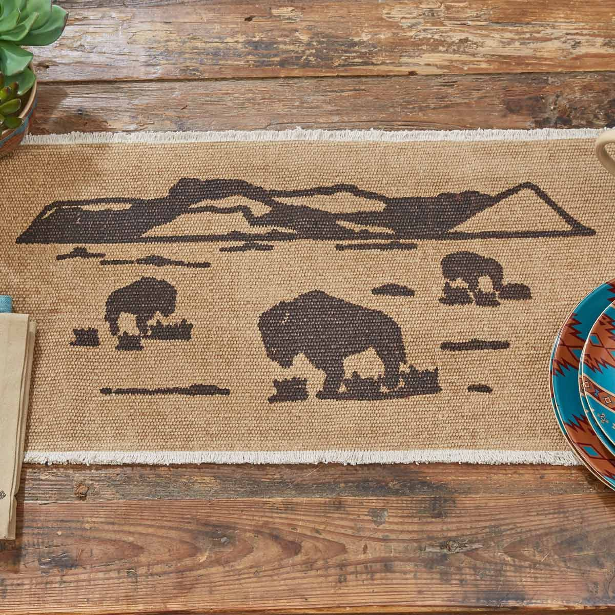 Bison Plain Table Runner - 54 Inch