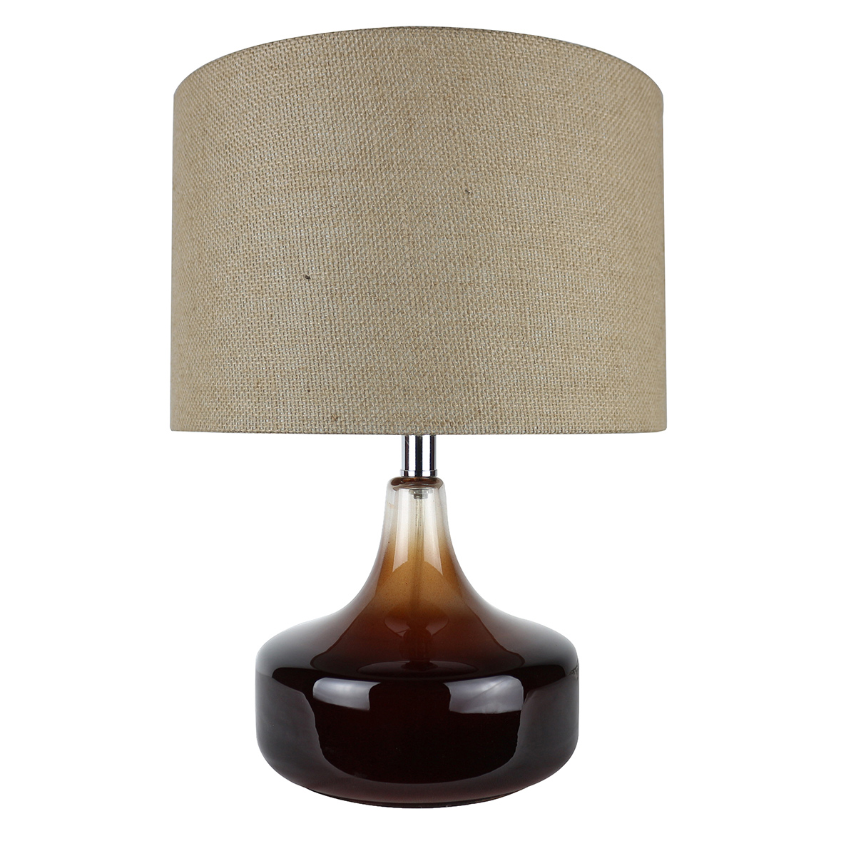 Black and Tan Accent Lamp
