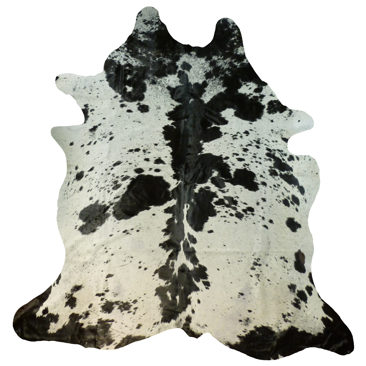 Black and White Rare Spotty Cowhide - Large